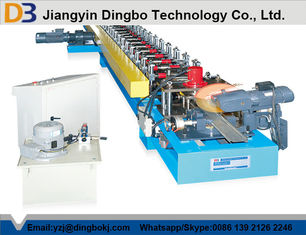 Galvanized steel Shutter Door Roll Forming Machine With Hydraulic Cutting